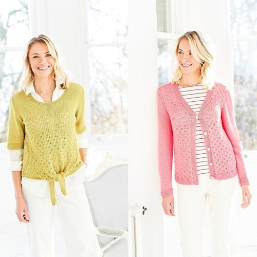 Knitting Pattern Stylecraft Naturals - Bamboo + Cotton DK No. 9754 Top & Cardigan