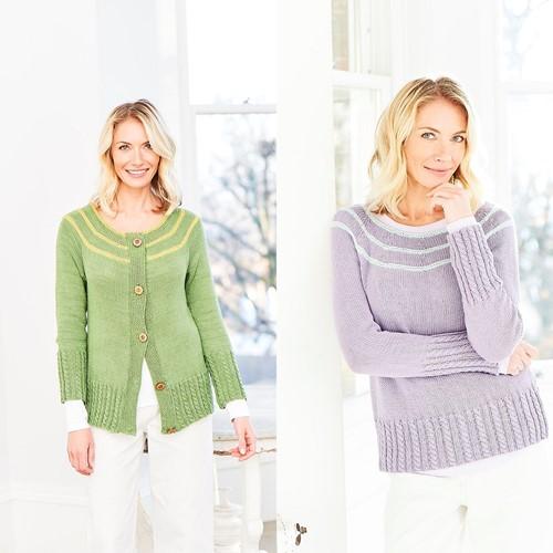 Knitting Pattern Stylecraft Naturals - Bamboo + Cotton DK No. 9755 Sweater & Cardigan