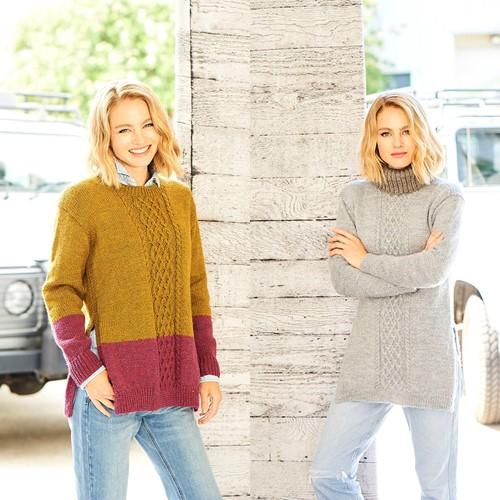 Knitting Pattern Stylecraft Highland Heathers DK No. 9792 Tunics