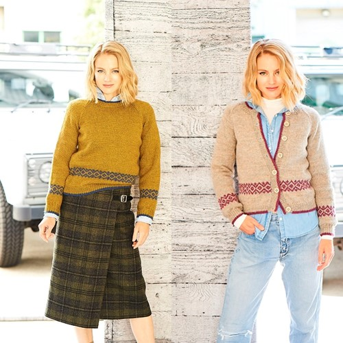 Knitting Pattern Stylecraft Highland Heathers DK No. 9794 Cardigan and Sweater