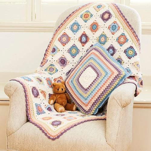 Crochet Pattern Stylecraft Naturals - Bamboo + Cotton DK No. 9804 Blanket & Cushion