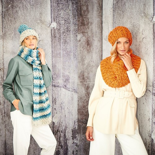Knitting Pattern Stylecraft Special XL Tweed Super Chunky No. 9805 Ladies Accessories