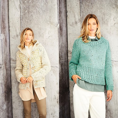 Knitting Pattern Stylecraft Special XL Tweed Super Chunky No. 9808 Ladies Jacket and Sweater
