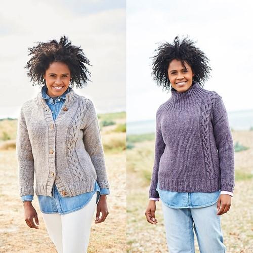 Knitting Pattern Stylecraft Softie Chunky No. 9812 Cardigan and Sweater