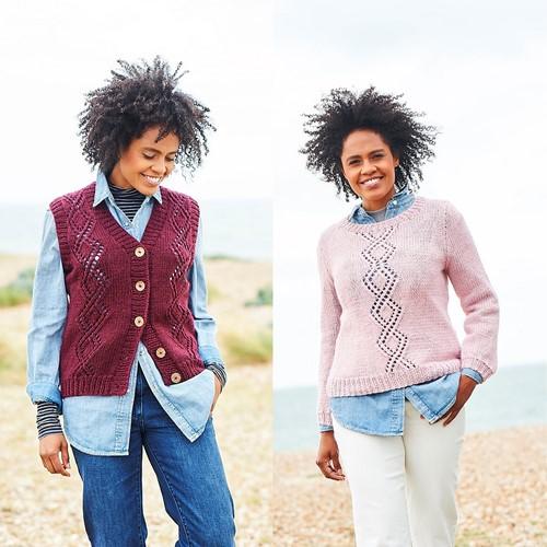 Knitting Pattern Stylecraft Softie Chunky No. 9813 Waistcoat and Sweater