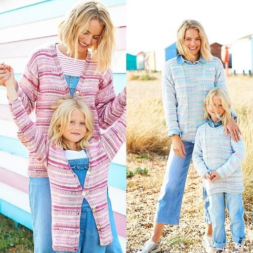 Knitting Pattern Stylecraft You & Me DK No. 9821 Sweater and Cardigan
