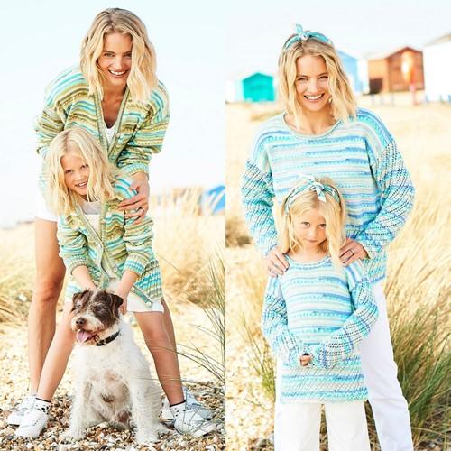 Knitting Pattern Stylecraft You & Me DK No. 9822 Sweater and Cardigan