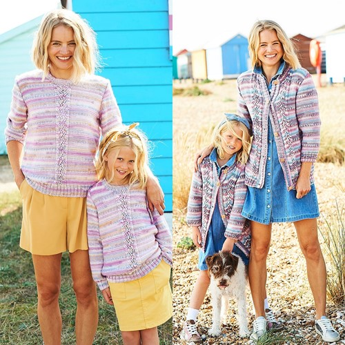 Knitting Pattern Stylecraft You & Me DK No. 9824 Sweaters and Cardigan