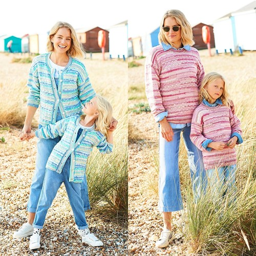 Knitting Pattern Stylecraft You & Me DK No. 9825 Sweaters and Cardigan
