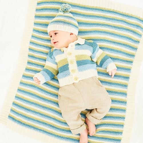 Knitting Pattern Stylecraft Naturals - Bamboo + Cotton DK No. 9831 Cardigan, Hat & Blanket