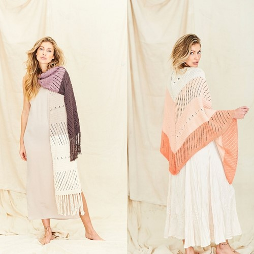 Knitting Pattern Stylecraft Naturals Organic Cotton DK No. 9836 Shawls