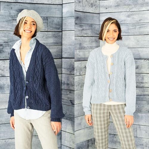 Knitting Pattern Stylecraft ReCreate DK No. 9856 Cardigans