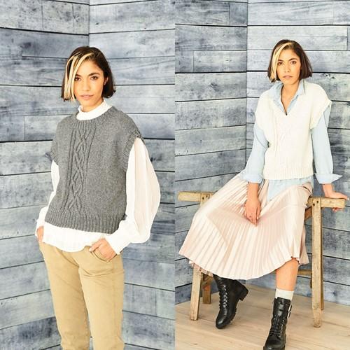 Knitting Pattern Stylecraft ReCreate DK No. 9857 Tank Tops