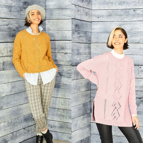 Knitting Pattern Stylecraft ReCreate DK No. 9861 Tunic, sweater, and snood