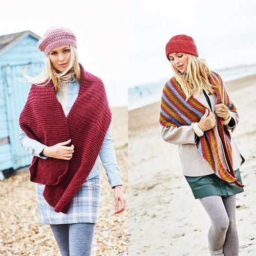 Knitting Pattern Stylecraft Highland Heathers DK No. 9862 Shawls and Hats
