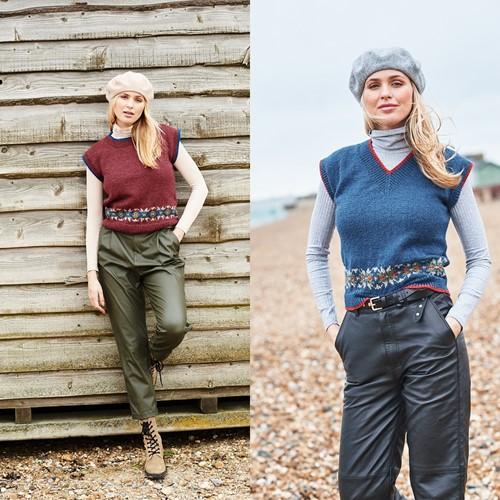 Knitting Pattern Stylecraft Highland Heathers DK No. 9865 Tank Tops