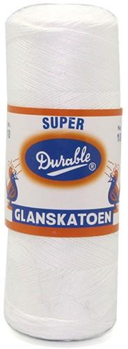 Durable Glanskatoen No. 10 09 Wit
