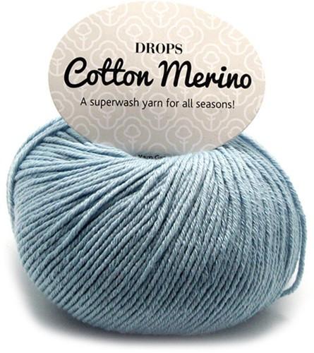 Drops Cotton Merino Uni Colour 9 Ice Blue