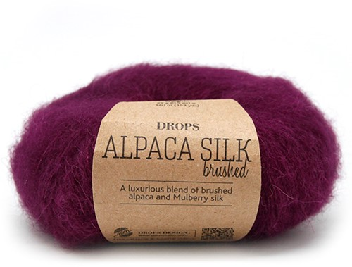 Drops Brushed Alpaca Silk Uni Colour 09 Purple
