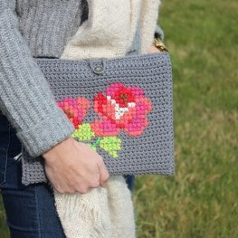 Crochet pattern tablet cover