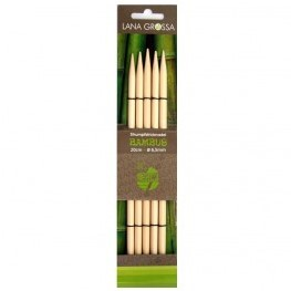 Lana Grossa 20cm Bambus Double Pointed Needles 10mm