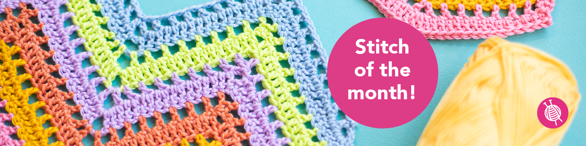 Stitch of the Month: Crochet Zigzag Stitch