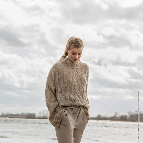 Nuvoletta Sweater Knitting Kit 1 Beige