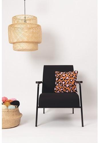 Leopard Print Cushion Punch Needle Kit 1 Orange/Black/Candy pink