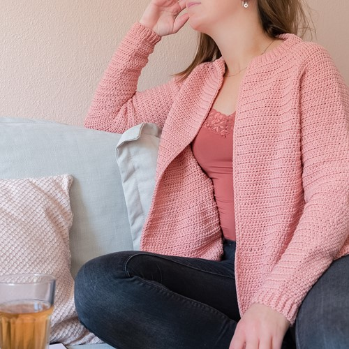 Crochet Pattern Yarn and Colors Afternoon Tea Cardigan