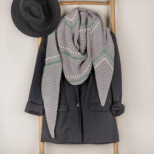 Yarn and Colors Asymmetrical Scarf Crochet Kit 096 Shark Grey