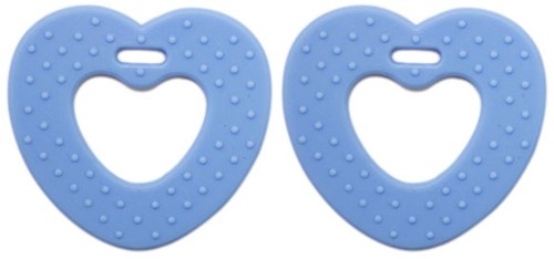 Teether Rings Heart 14 Baby Blue