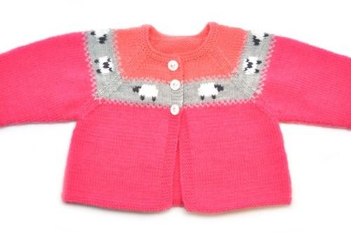 Knitting Pattern Partner Baby Cardigan Girl