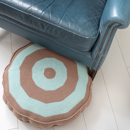 Crochet Pattern Yarn and Colors Basic Floor Cushion