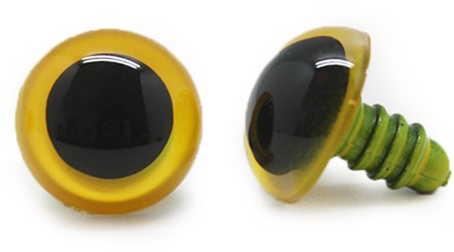 Plastic Safety Eyes Basic Yellow (per pair) 21mm