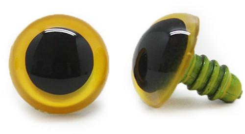 Plastic Safety Eyes Basic Yellow (per pair) 24mm
