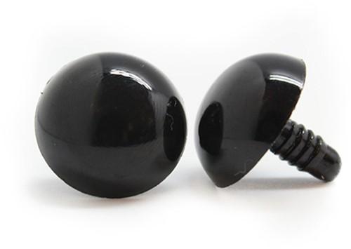 Safety Eyes Black 21mm per pair
