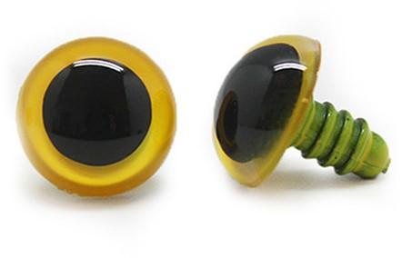 Plastic Safety Eyes Basic 010 Yellow 16mm