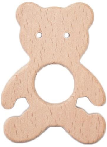 Wooden Teether Bear