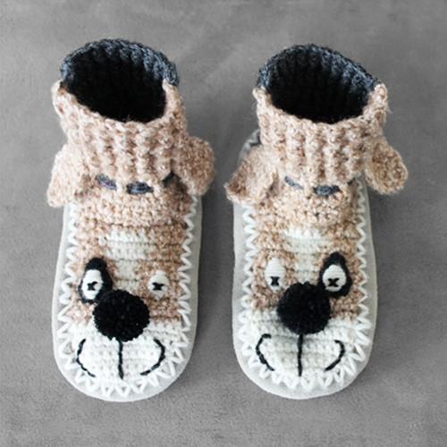 Crochet pattern beastly children's slippers