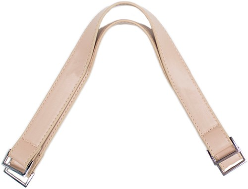 Handbag Handles Silver Clasp 42 Beige