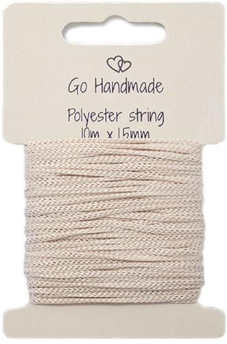 Polyester String 2 Beige