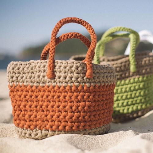 Crochet Pattern Big Ribbon Basket