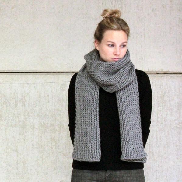 knitting pattern big merino scarf