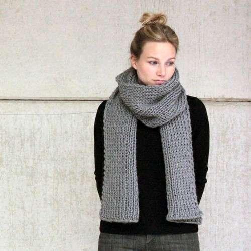 Knitting pattern Big Merino scarf