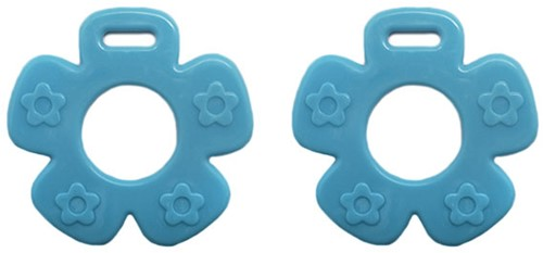 Durable Teether Flower 298 Blue
