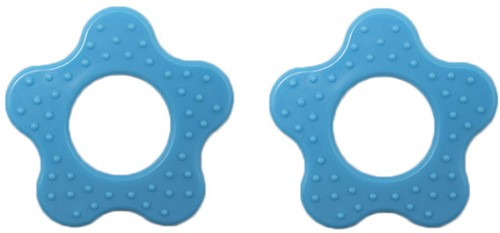 Durable Teether Flower With Studs 298 Blue