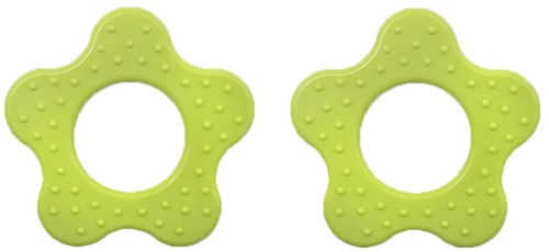 Durable Teether Flower With Studs 547 Apple Green