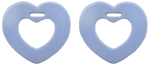 Durable Teether Heart 259 Blue