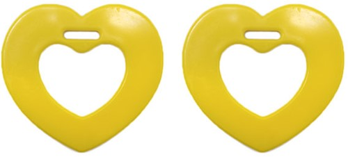 Durable Teether Heart 645 Yellow
