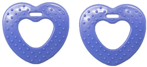 Durable Teether Heart With Studs 296 Blue